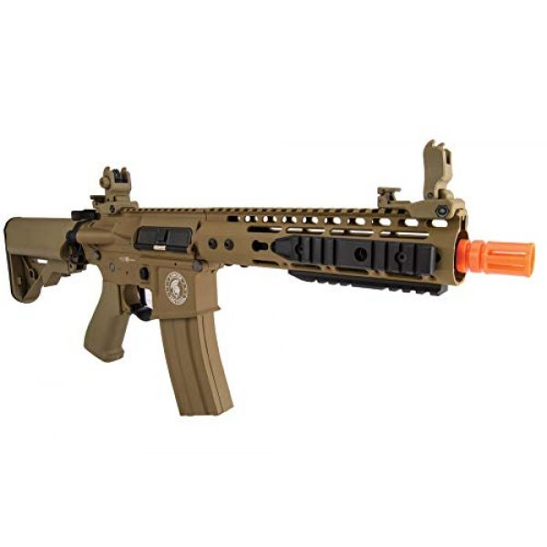 """Lancer Tactical Airsoft Rifle 6 Lancer Tactical Proline 9"""" KeyMod with Picatinny M4 Carbine AEG Airsoft Rifle Tan 395 FPS"""