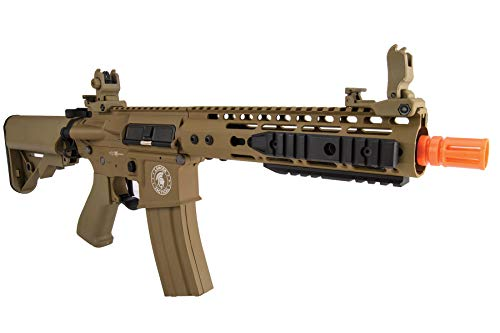 "Lancer Tactical  6 Lancer Tactical Proline 9"" KeyMod with Picatinny M4 Carbine AEG Airsoft Rifle Tan 395 FPS"