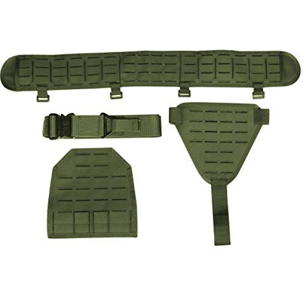 OAREA Airsoft Tactical Vest 2 OAREA MOLLE Tactical Belt Men's Army 1000D Nylon Ultra-Wide Tactical Quick Release Breathable Multi-Functional Belt Adjustable Soft Padded