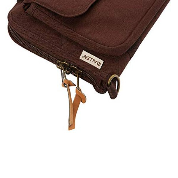 Allen Company Pistol Case 3 Allen Company Muddy Creek Heritage Oversized Double Handgun Attache, Rifle and Shotgun Gun Case, Universal, 48 and 52 inches, Lockable, Quilted Cotton Canvas with Leather Trim, Made in The USA, Brown