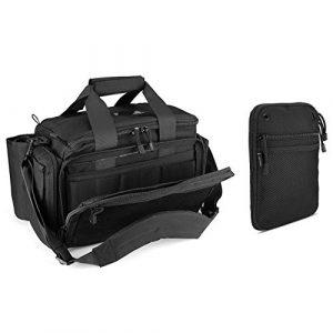 ProCase Pistol Case 1 ProCase Tactical Gun Range Bag Pistol Shooting Duffle Bag Bundle with Multipurpose Carry Pistol Holster Fanny Pack Waist Bag for Handgun