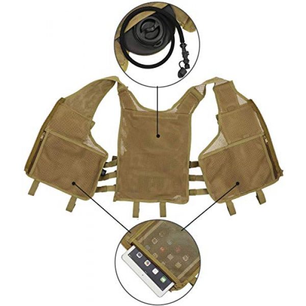 Hunting Explorer Airsoft Tactical Vest 5 600D Polyester Military Equipment air Gun Tactical Vest, Used for Military Combat Training, CS, Paintball Shooting and Other Airsoft Combat Protective Vests.
