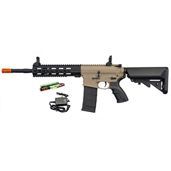 """Hsa Airsoft Rifle 1 Hsa Tippmann Commando 14.5"""" 6mm AEG Carbine (Battery & Charger) - TAN"""