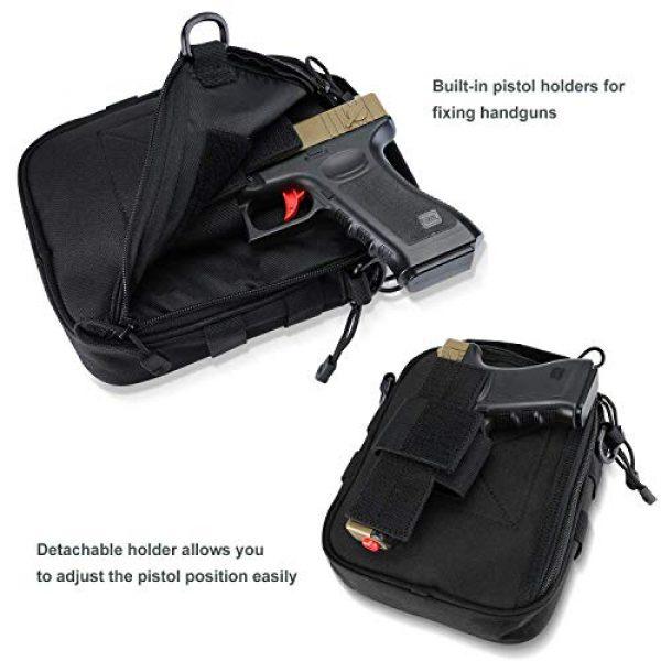 ProCase Pistol Case 3 ProCase Pistol Bag Ammo Accessories Pouch Bundle with Tactical Pistol Mag Pouch Submachine Gun Magazine Bag -Black