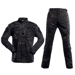 AKARMY Tactical Shirt 1 Unisex Lightweight Military Camo Tactical Camo Hunting Combat BDU Uniform Army Suit Set