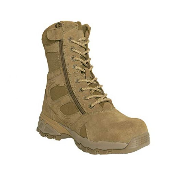 """Rothco Combat Boot 1 8"""" Forced Entry Composite Toe AR 670-1 Coyote Brown Tactical Boot"""