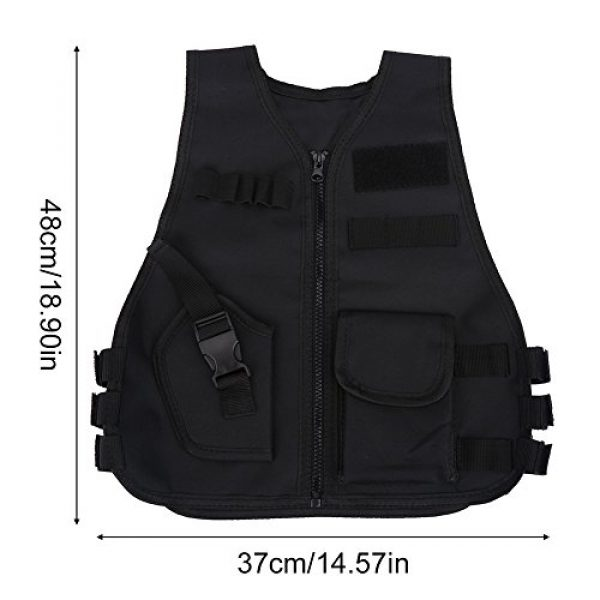 Wbestexercises Airsoft Tactical Vest 7 Wbestexercises Kids Tactical Molle Vest Adjustable Combat Vest Jacket Breathable Children Protective Waistcoat for Outdoor Hunting Combat Games S, L