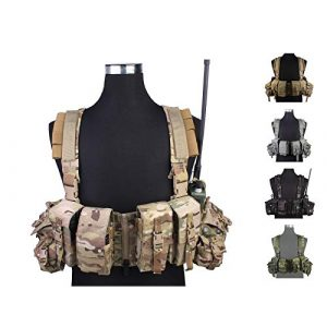 Elite Tribe Airsoft Tactical Vest 1 Elite Tribe Airsoft Military Molle Vest Combat Tactical LBT 1961A R Style Load Bearing Chest Rig