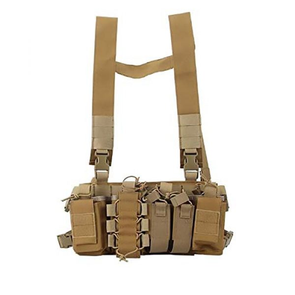 WEQ Airsoft Tactical Vest 1 WEQ Multifunctional Tactical Vest Outdoor Equipment Tactical Chest Hanging Combat Training Vest (Color : #A)