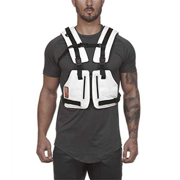 Armiya Airsoft Tactical Vest 3 Mens Molle Tactical Military Chest Rig Law Enforcement Work Reflective Vest Combat Condor Security Training Tool Pouch for Outdoor Paintball CS Game Airsoft Climbing Hiking (White)