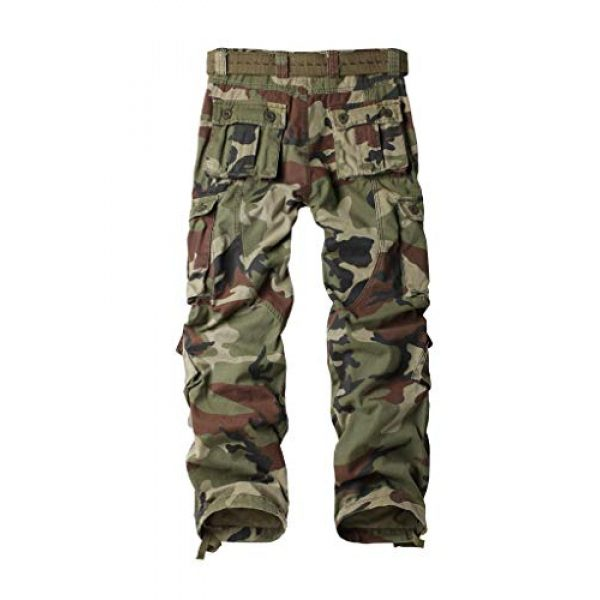 TRGPSG Tactical Pant 2 Women's Casual Combat Cargo Pants, Cotton Outdoor Camouflage Military Multi Pockets Work Pants 8