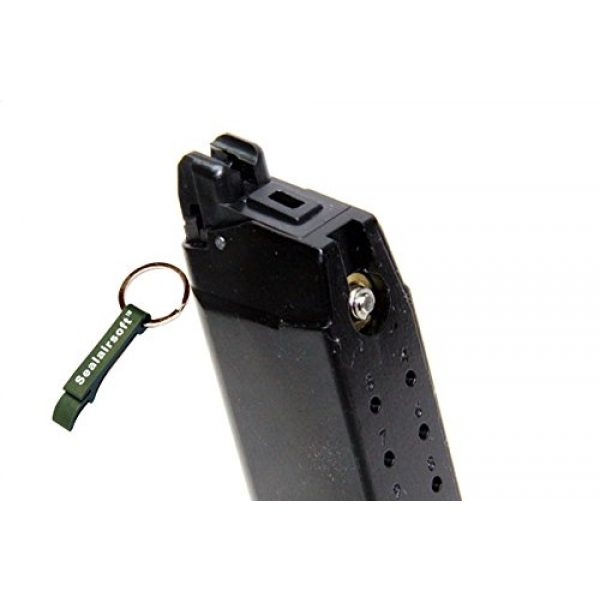 WE Airsoft Gun Magazine 2 WE 20rds Gas Airsoft Magazine G19 G23 GBB Series Black -Mobile Ring Included