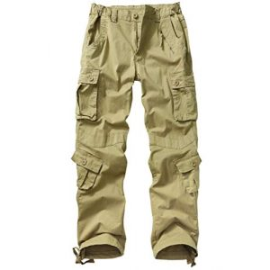 AKARMY Tactical Pant 1 Womens Cargo Pants with Pockets,Cotton Outdoor Casual Ripstop Camo Military Combat Construction Work Pants