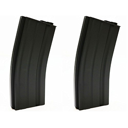 Airsoft Shopping Mall  1 Airsoft Shooting Gear 2pcs Pack E&C 30rd Mid-Cap Magazine for M-Series AEG Black