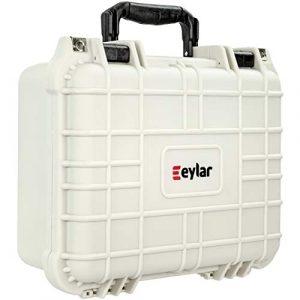 Eylar Pistol Case 1 Eylar Tactical Hard Gun Case Water & Shock Proof with Foam TSA Approved 13.37 Inch 11.62 Inch 6 Inch Storm White