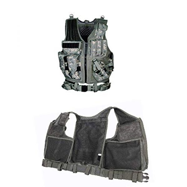 OURLITIME Airsoft Tactical Vest 7 OURLITIME Airsoft Tactical Vest, Tactical Vest Multi-Pocket SWAT Army CS Hunting Vest Camping Hiking Accessories Outdoor Hunting Hiking Camping Equipment