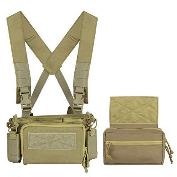 OAREA Airsoft Tactical Vest 4 OAREA Hunting Tactical Vest Magazine Pouch Modular Chest Rig Set Drop Pouch 3PCS Mag Insert Set