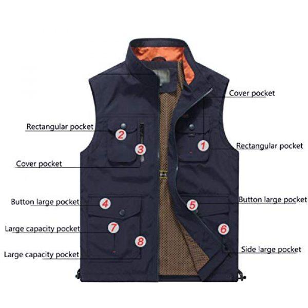 DAFREW Airsoft Tactical Vest 5 DAFREW Men's Casual Vest Multi-Pocket Vest Outdoor Fishing Photography Vest Grid Vest (Color : Royal Blue, Size : M)
