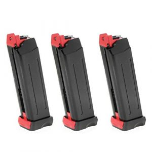 Generica Air Gun Magazine 1 Generica Airsoft Spare Parts APS 3pcs 18rd CO2 Magazine for APS Steel Shark .177 Cal 4.5mm BB Black
