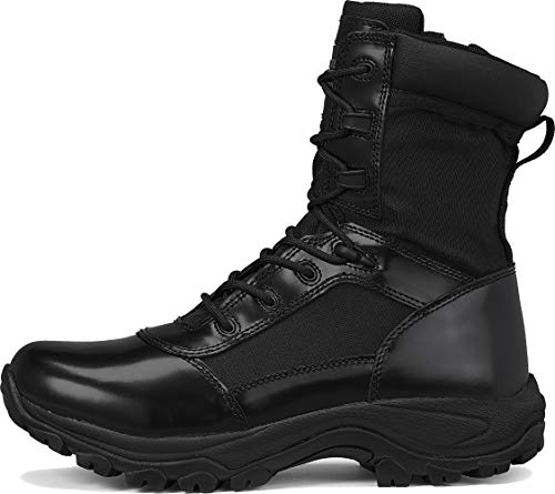 """Belleville Tactical Research TR Combat Boot 2 Belleville Tactical Research TR Men's Class-A TR908Z 8"""" Hot Weather High Shine Side-Zip Boot"""