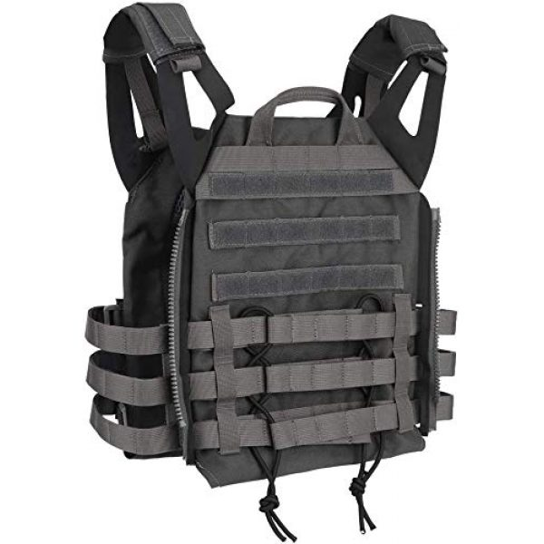 LEJIE Airsoft Tactical Vest 5 Tactical JPC MOLLE Protective Vest with Removable Large Capacity Backpack for Airsoft Paintball Hunting