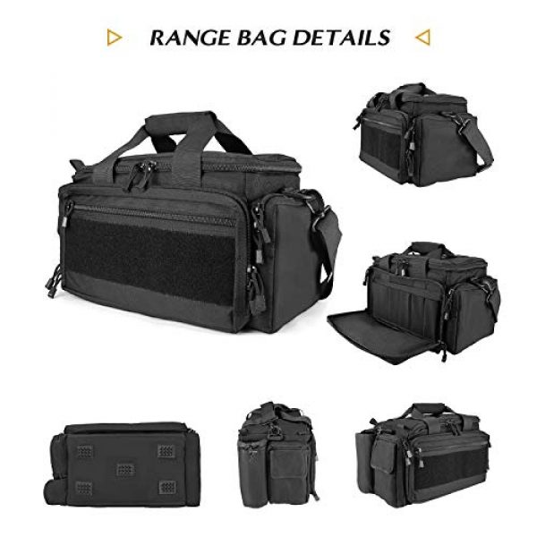 ProCase Pistol Case 5 ProCase Tactical Gun Range Bag Pistol Shooting Duffle Bag Bundle with Noise Reduction Safety Ear Muffs Headset SNR 36dB Earmuffs for Ear Hearing Protection