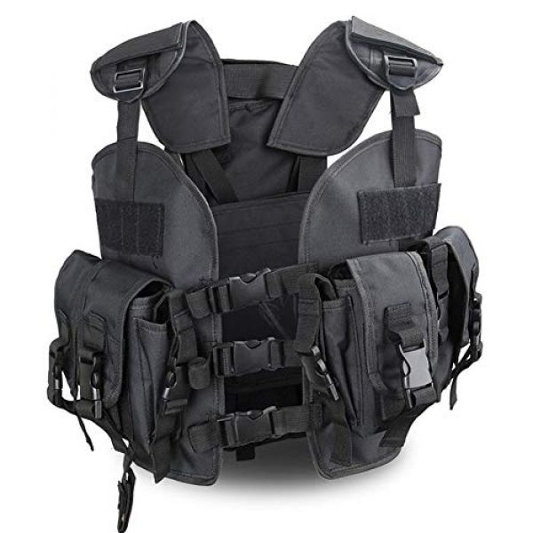 Shefure Airsoft Tactical Vest 7 Shefure The Seal Men Tactical Hunting Armor Vest Combat CS Wargame Military Camouflage Waterproof Water Bag Pouches Tactical Gear