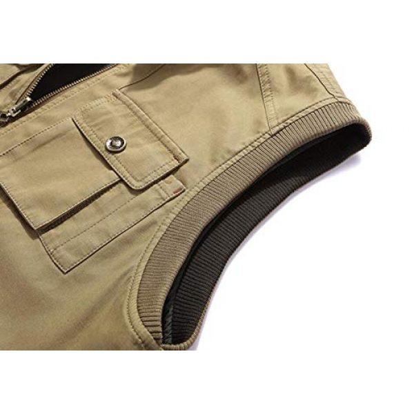 DAFREW Airsoft Tactical Vest 6 DAFREW Men's Reversible Cotton Casual Gilet Vest Outdoor Multi Pockets Full Zip Vests (Color : Black, Size : L)