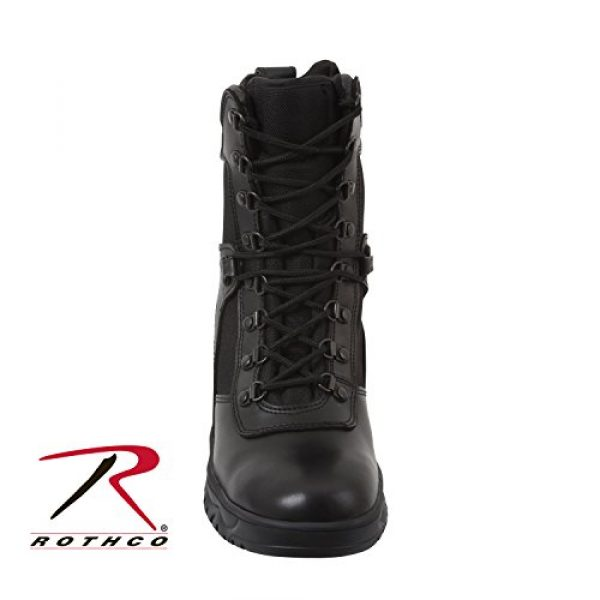 Rothco Combat Boot 3 Forced Entry 5053 Black Tactical Boots for Police, EMS w/Side Zipper