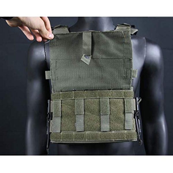 YIFAN Airsoft Tactical Vest 3 YIFAN Tactical Shooting Range Training Vest for Men Quick Release, 500D Nylon Outdoor Vest with Pockets for Combat Training, Field Operations, Hunting, Travel
