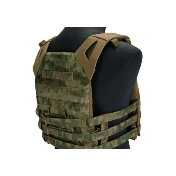 enmu pancho Airsoft Tactical Vest 2 Professional Airsoft Vest made with Durable nylon fabric - Woodland Arid
