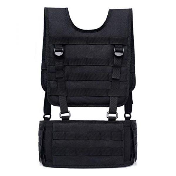Shefure Airsoft Tactical Vest 2 Shefure Tactical H-Harness Waist Battle Belt Suspenders Hunting Molle Vest Chest Rig