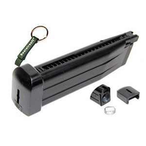 WE Airsoft Gun Magazine 1 WE 31rds CO2 Airsoft Magazine Tokyo Marui Hi-Capa 5.1 IPSC GBB -Mobile Ring Included