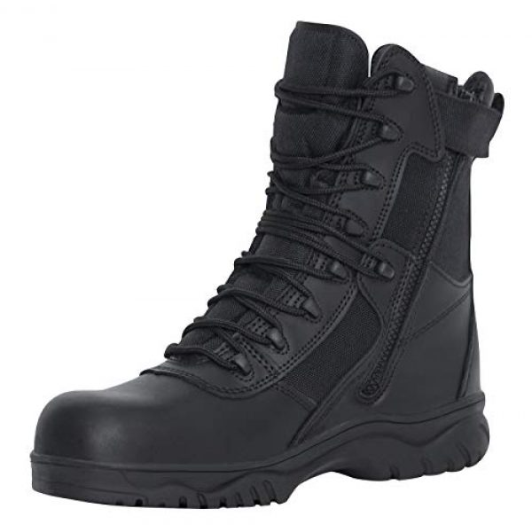 Rothco Combat Boot 1 8 Inch Forced Entry Tactical Boot with Side Zipper & Composite Toe