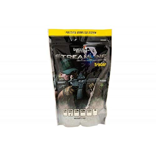 Lancer Tactical  1 Lancer Tactical Tracer 0.25g BBS White 4000 ct for Airsoft High FPS Performance