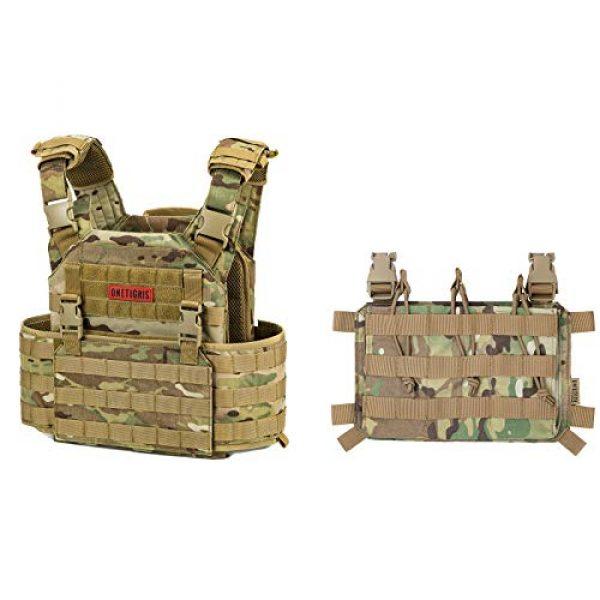 OneTigris Airsoft Tactical Vest 1 OneTigris Multicam Tactical Vest & Triple Rifle Mag Pouch