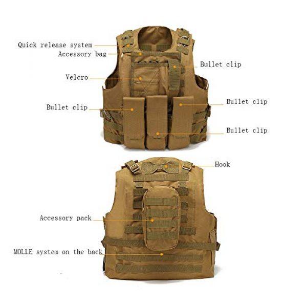 WEQ Airsoft Tactical Vest 3 WEQ Tactical Vest Outdoor Amphibious Vest Ultra-Light Breathable Combat Training Vest Adjustable for Adults(Standard Size) (Color : #G)