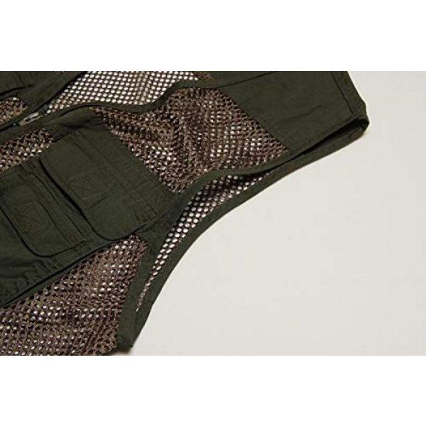 DAFREW Airsoft Tactical Vest 6 DAFREW Men's Vest Outdoor Leisure Fishing Vest Multi-Pocket Vest Breathable mesh Vest (Color : Beige, Size : XL)