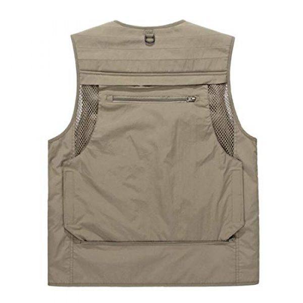 DAFREW Airsoft Tactical Vest 2 DAFREW Men's Casual Vest Outdoor Photography Vest Quick Dry Multi-Pocket Vest (Color : Khaki, Size : XL)