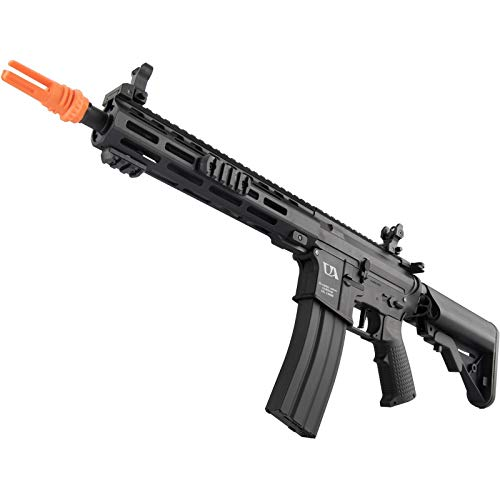 Lancer Tactical  6 Lancer Tactical Classic Army Skirmish Series ML10 M4 M-LOK AEG Airsoft Rifle Black 350 FPS