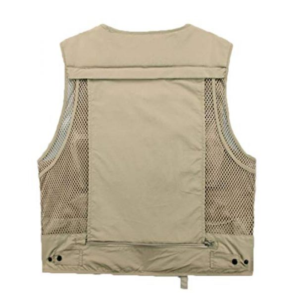 DAFREW Airsoft Tactical Vest 2 DAFREW Casual Vest Multi-Pocket Quick-Drying Vest mesh Breathable Vest Outdoor Leisure Fishing Photography Vest (Color : Green, Size : L)