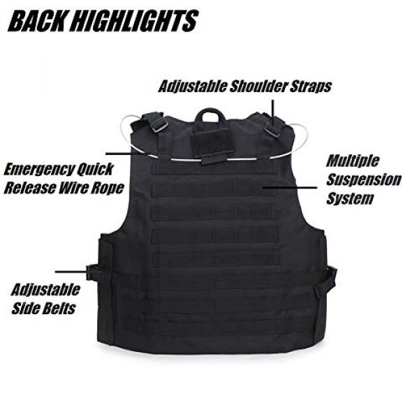 HYCOPROT Airsoft Tactical Vest 3 HYCOPROT Tactical Vest, 1000D Oxford Adjustable Military Airsoft Vest with Multipurpose Pouches for Paintball, Combat, Training, Outdoor, Shooting, Hunting
