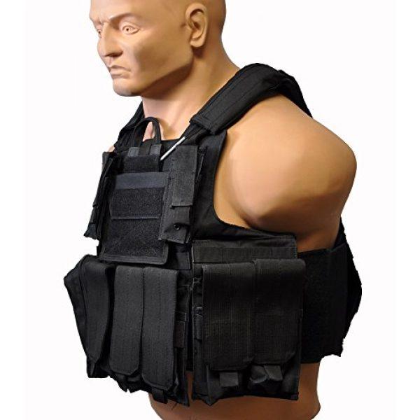 KTW Airsoft Tactical Vest 3 KTW Airsoft Tactical Molle Vest M-XL w/Multiple Pouches (Black)