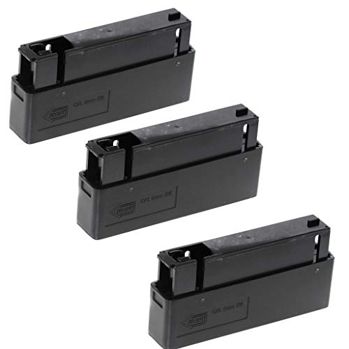 Generica  1 Generica Airsoft Spare Parts 3pcs 25rd Mag Magazine for MB01 MB04 MB05 L96 G21 G22 Bolt Action Sniper Rifle