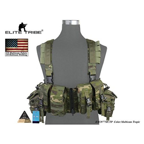 Elite Tribe Airsoft Tactical Vest 2 Elite Tribe Airsoft Military Molle Vest Combat Tactical LBT 1961A R Style Load Bearing Chest Rig
