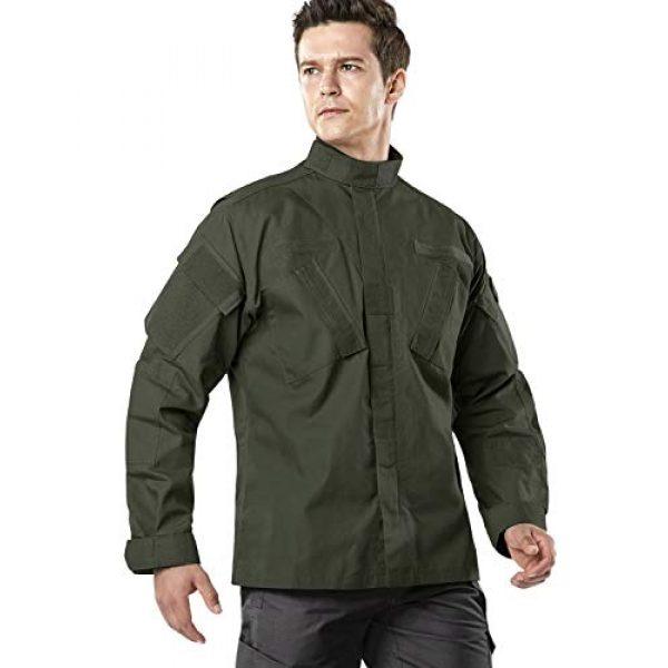 CQR Tactical Jacket 3 Men's Combat Military Jacket, Water Repellent Ripstop Army Fatigue Field Jacket, Outdoor EDC Tactical ACU/BDU Coat