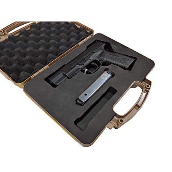 Cedar Mill Fine Firearms Pistol Case 6 Custom EVA Pistol Foam - 1911 Colt Beretta 90 CZ 75 SHADOW 1 and 2 9mm Canik SFX / SA FNH FNS Grand Power Excalibur H&K USP Magnum Research MR9 Ruger American SR11 Smith&Wesson SIG SAUER