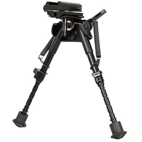 Gazelle Trading Airsoft Gun Barrel Bipod 6 Gazelle Trading 8-11 Inches Tactical Rifle Bipod with Pivot Lock for Shooting Quick Release Monopods