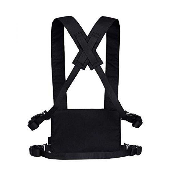 OneTigris Airsoft Tactical Vest 7 OneTigris Black Tactical Vest & Chest Rig Set