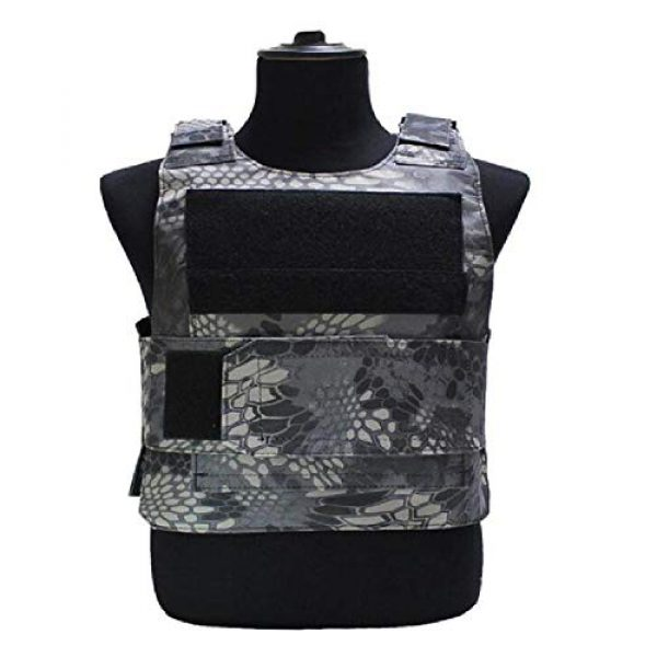 BGJ Airsoft Tactical Vest 1 BGJ Outdoor Tactical Vest Military Molle Armor Plate Waistcoat Airsoft Carrier Vest Camo Woodland Hunting Protection Combat CS Vest